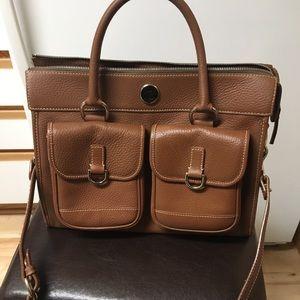 Doone & Bourke Pebbled Leather Satchel